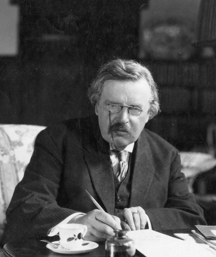 A quote by G.K. Chesterton
