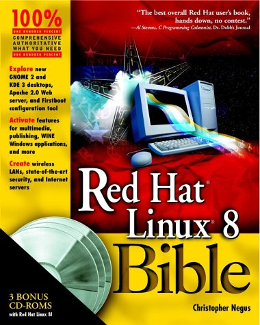 Red Hat Linux 8 Bible [With 3 CDROMs]