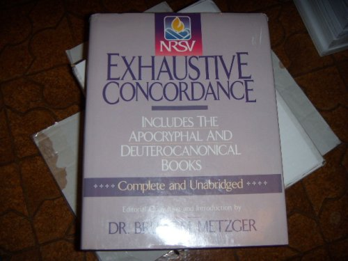 NRSV Exhaustive Concordance