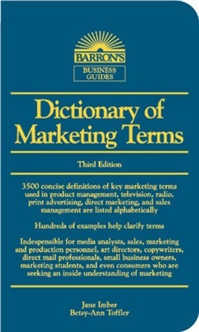 Dictionary Of Marketing Terms by Betsy-Ann Toffler — Reviews ...