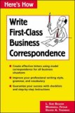 Write First Class Business Correspondence