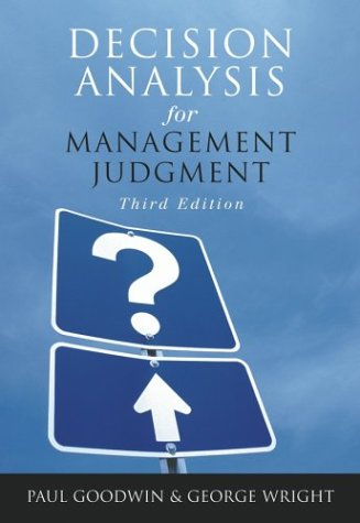 Decision Analysis for Management Judgment