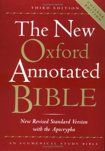 The New Oxford Annotated Bible, New Revised Standard Version ... by Anonymous