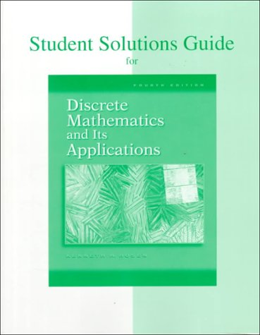 kenneth h rosen discrete mathematics and its applications seventh edition