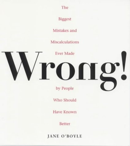 Wrong! by Jane O'Boyle