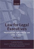 Law for Legal Executives: Professional Diploma in Law: Level 3, Year 2