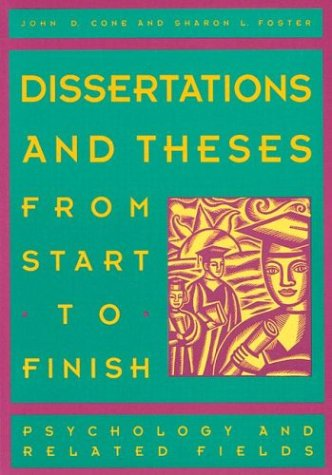 thesis and dissertations from start to finish