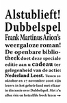 Dubbelspel by Frank Martinus Arion