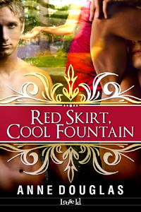 Red Skirt, Cool Fountain by Anne  Douglas