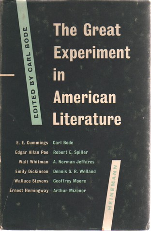The Great Experiment in American Literature
