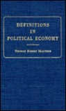 Definitions in Political Economy