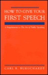 How To Give Your First Speech (Quick Start) Booklet