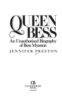Queen Bess: The Unauthorized Biography of Bess Myerson