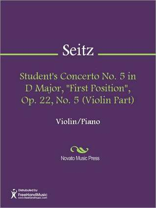 "Student's Concerto No. 5 in D Major, ""First Position"", Op. 22, No. 5 (Violin Part)"