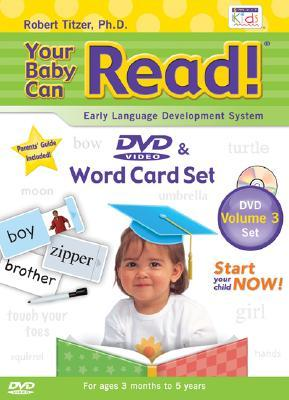 Your Baby Can Read DVD & Word Card Set, Volume 3: Early Language Development System [With Double-Sided Sliding Word & Picture Cards and Non-Toxic Pen]