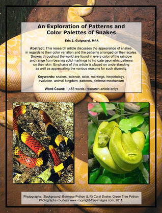 An Exploration of Patterns and Color Palettes of Snakes