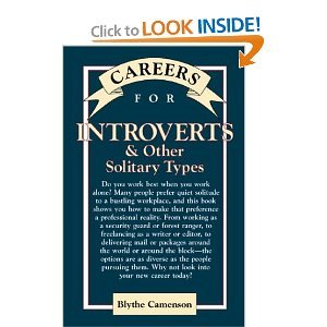 Careers for Introverts & Other Solitary Types by Blythe Camenson
