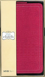 NIV, Bible Clutch, Imitation Leather, Pink, Wallet Style, Red Letter Edition