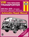 VW Transporter 1700, 1800 and 2000, 1972-1979