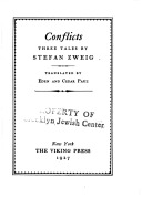 Conflicts by Stefan Zweig