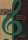 Studies on the History of Musical Style