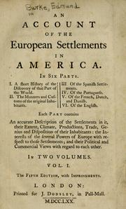 An Account of the European Settlements in America in Six Parts