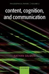 Content, Cognition, and Communication: Philosophical Papers II