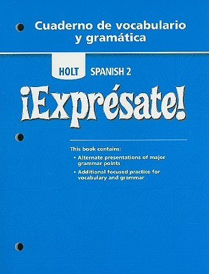 Worksheets Holt Spanish 2 Workbook Answer Key holt spanish 2 expresate cuaderno de vocabulario y gramatica by 6017699