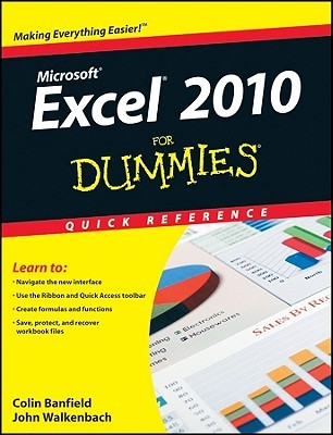 Excel 2010 for Dummies Quick Reference