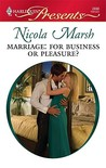 Marriage: For Business or Pleasure?