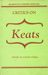 Critics on Keats (Readings in Literary Criticism 1)