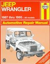 Jeep Wrangler Automotive Repair Manual: Models Covered : All Jeep Wrangler Models 1987 Through 1995 (Haynes Auto Repair Manuals)