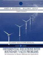 Differential Equations: An Introduction to Modern Methods and Applications--Student Solutions Manual