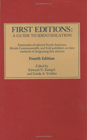First Editions by Edward N. Zempel