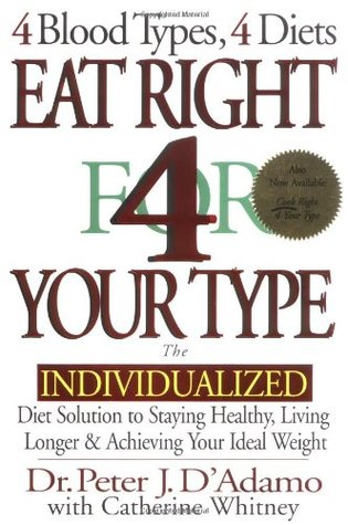 Eat Right 4 Your Type by Peter J. D'Adamo