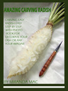 Amazing Carving Radish ( Easy Carving With Step By Step )
