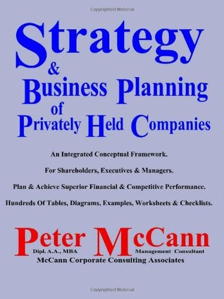 Strategy & Business Planning of Privately Held Companies