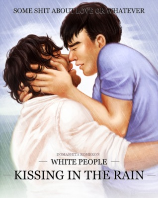 White People Kissing in the Rain