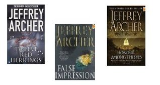 Jeffrey Archer 3 books collection(Twelve Red Herrings, Honour Among Thieves, False Impression)