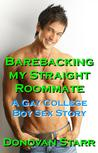 Barebacking my Straight Roommate: A Gay College Boy Sex Story (College Sex, Rimming, Bareback Sex, Bi Curious Sex)