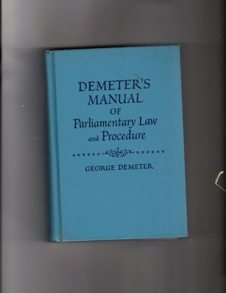 Demeter's Manual of Parliamentary Law and Procedure, Blue Book Ed.