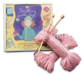 Knitting with Gigi [With Knitting Needles, 2 Skeins of Yarn, Sewing Needle]