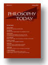 Philosophy Today (Spring 2014)