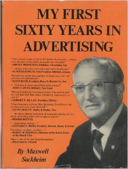 My First Sixty Years in Advertising