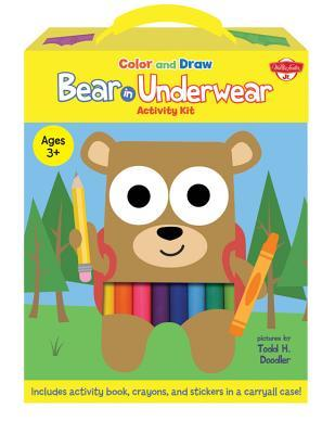 Color and Draw Bear in Underwear Activity Kit: Includes activity book, crayons, and stickers in a carryall case!