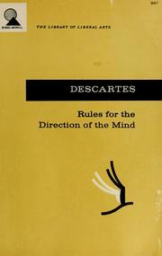 Rules for the Direction of the Mind by René Descartes