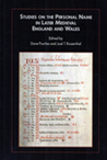 Studies on the Personal Name in Later Medieval England and Wales