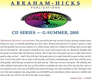 It's All About Vibrational Relativity - G-Summer 2005
