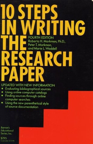 10 Steps In Writing The Research Paper Markman Children's Programs - image 5