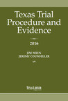 Texas Trial Procedure And Evidence 2016